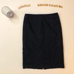 BODEN women's dark denim pencil skirt  US size 4BO